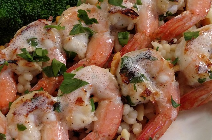 grilled shrimp on skewer