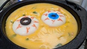 Halloween Queso Dip // Tiny Kitchen Big Taste