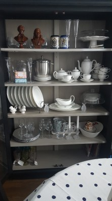 Wedgewood China, also pieces from Lenox, Kate Spade, Godinger Shannon Crystal, Ikea