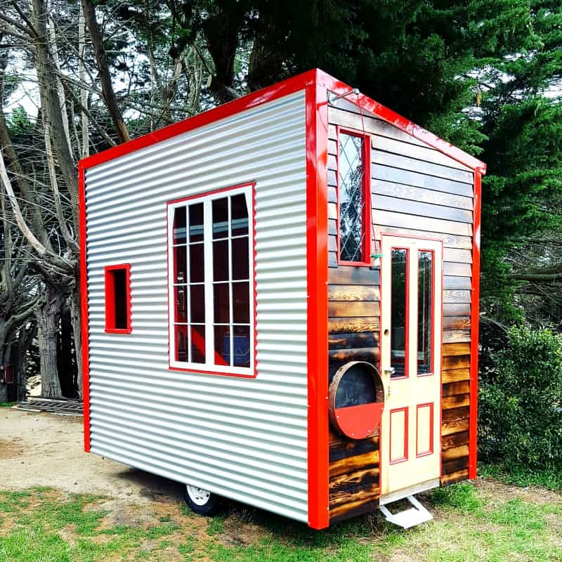 little red affordable tiny home