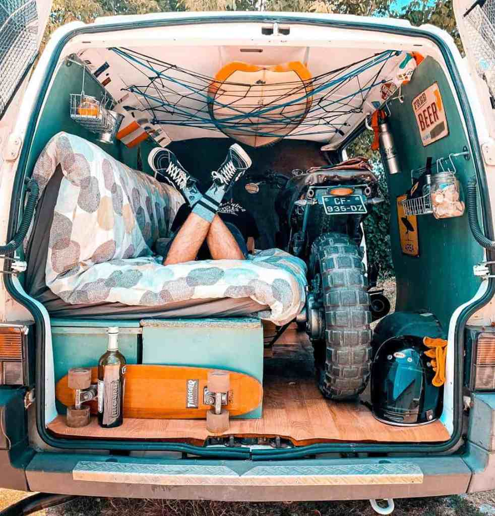 #vanlife with space-saving shelves