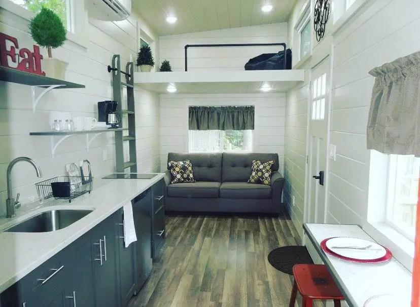 frac tiny house with kitchen bar