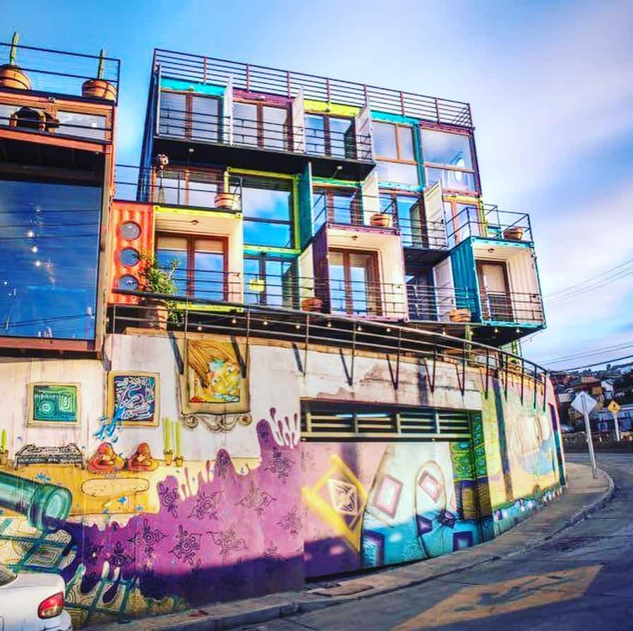 colorful container tiny home