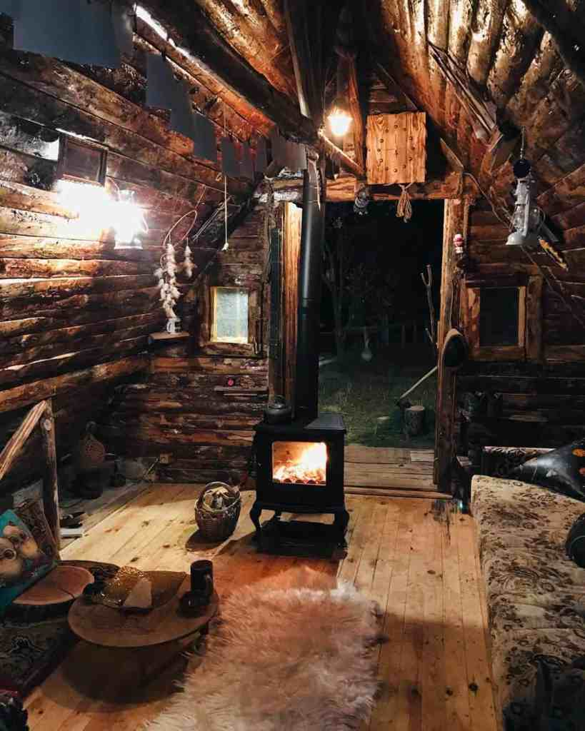 rustic tiny home