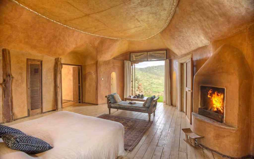 tiny home made from natural earth materials