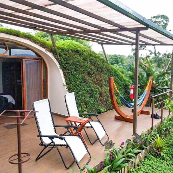 tiny home with lots of green vegetation in Australia