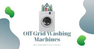 off grid wahsing machine