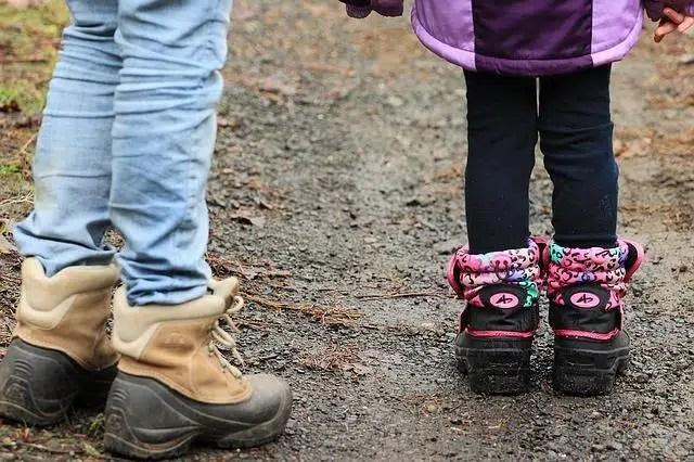 kids dressing for mushroom hunting in Michigan