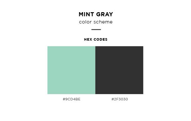 mint gray color scheme