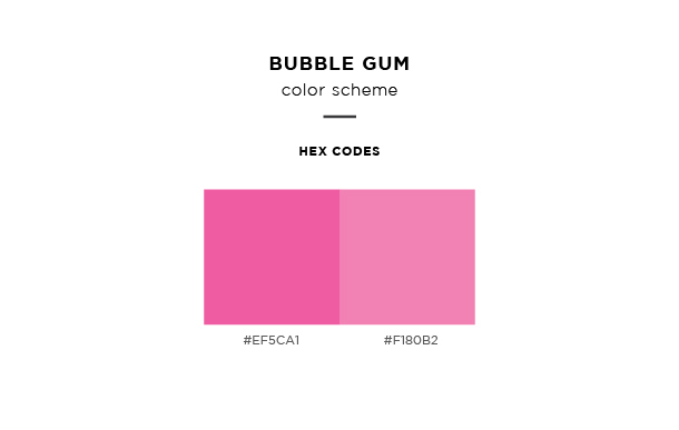 bubble gum color scheme