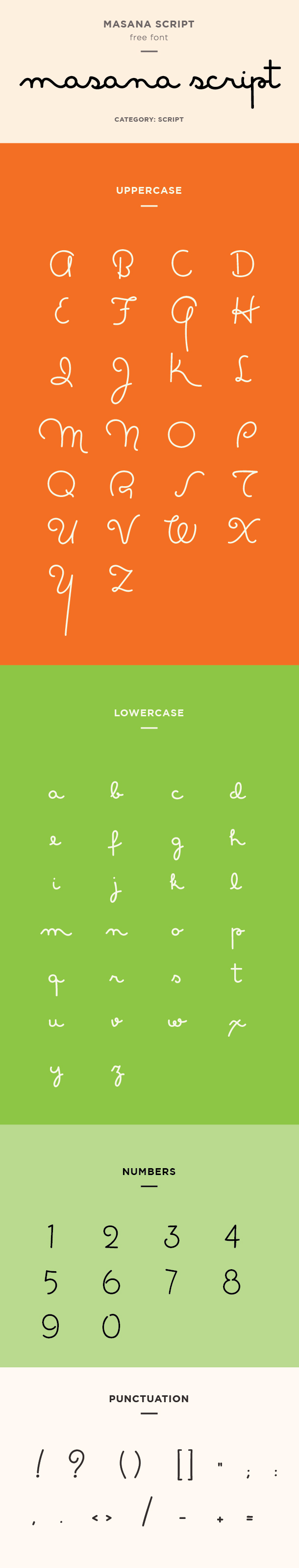 masana script font example