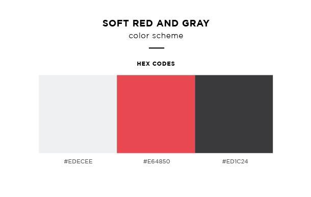 soft red and gray color scheme