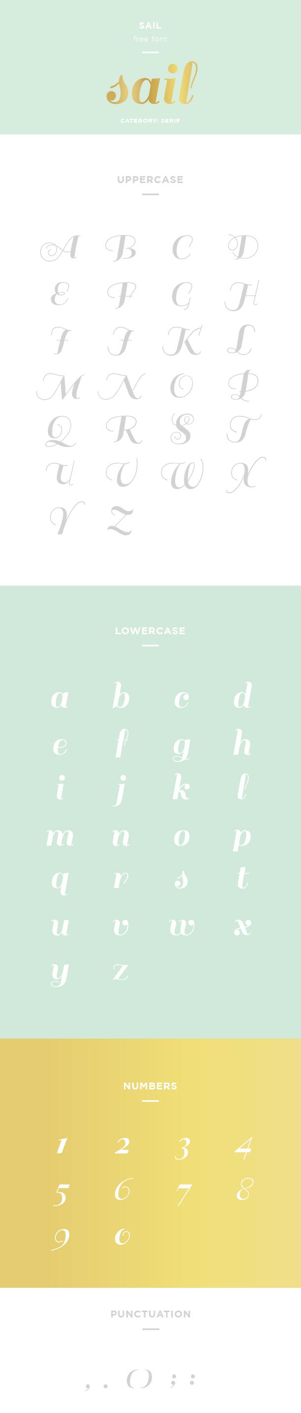 sail font example