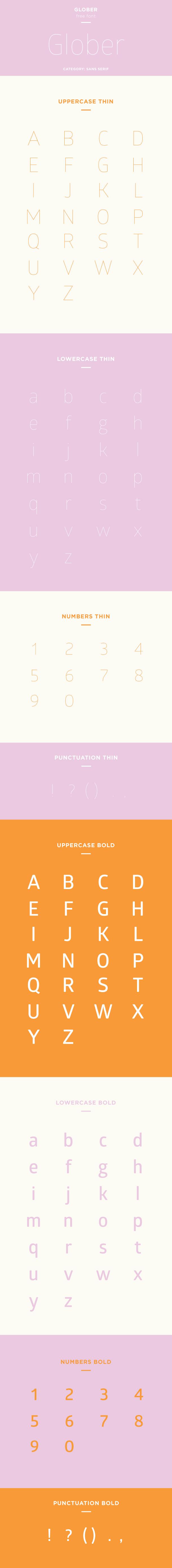 glober font example