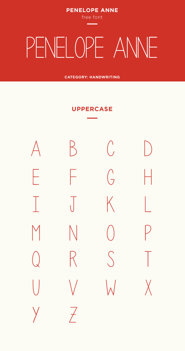 penelope anne font example