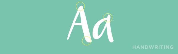 handwriting font example.
