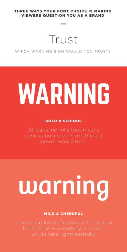 Choose the right font to establish trust