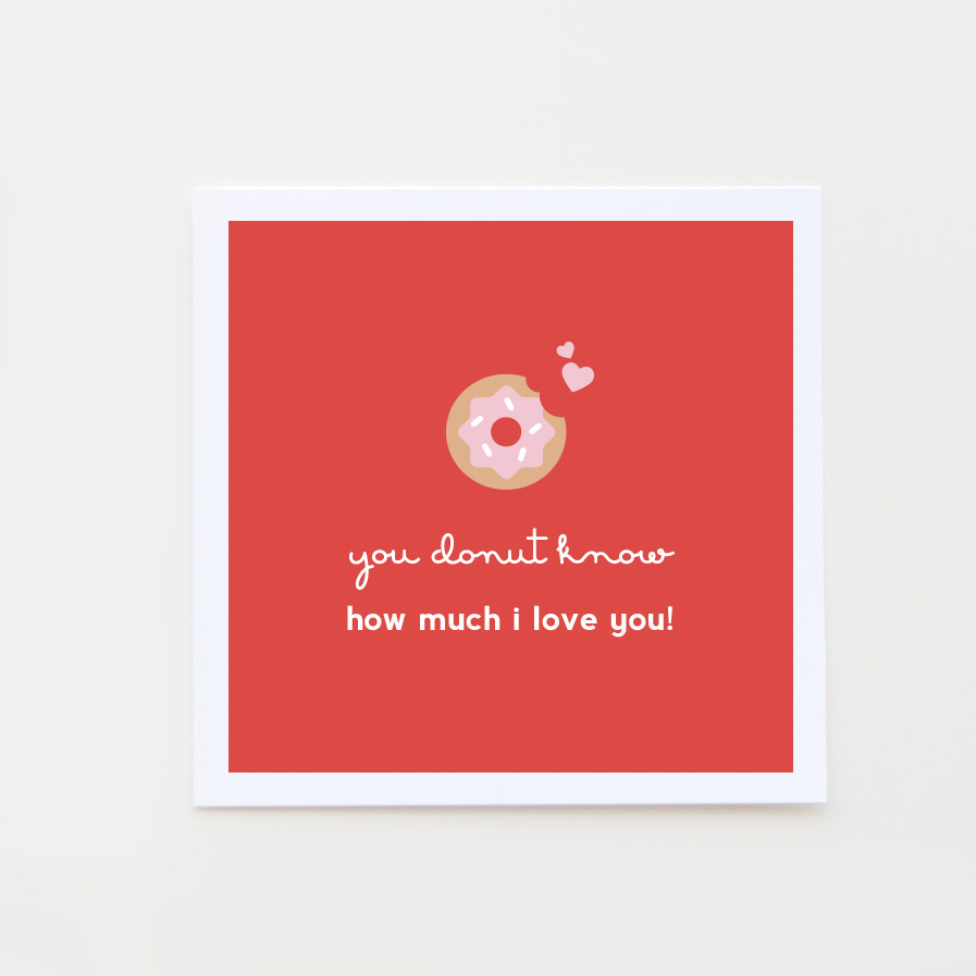 donut valentine card