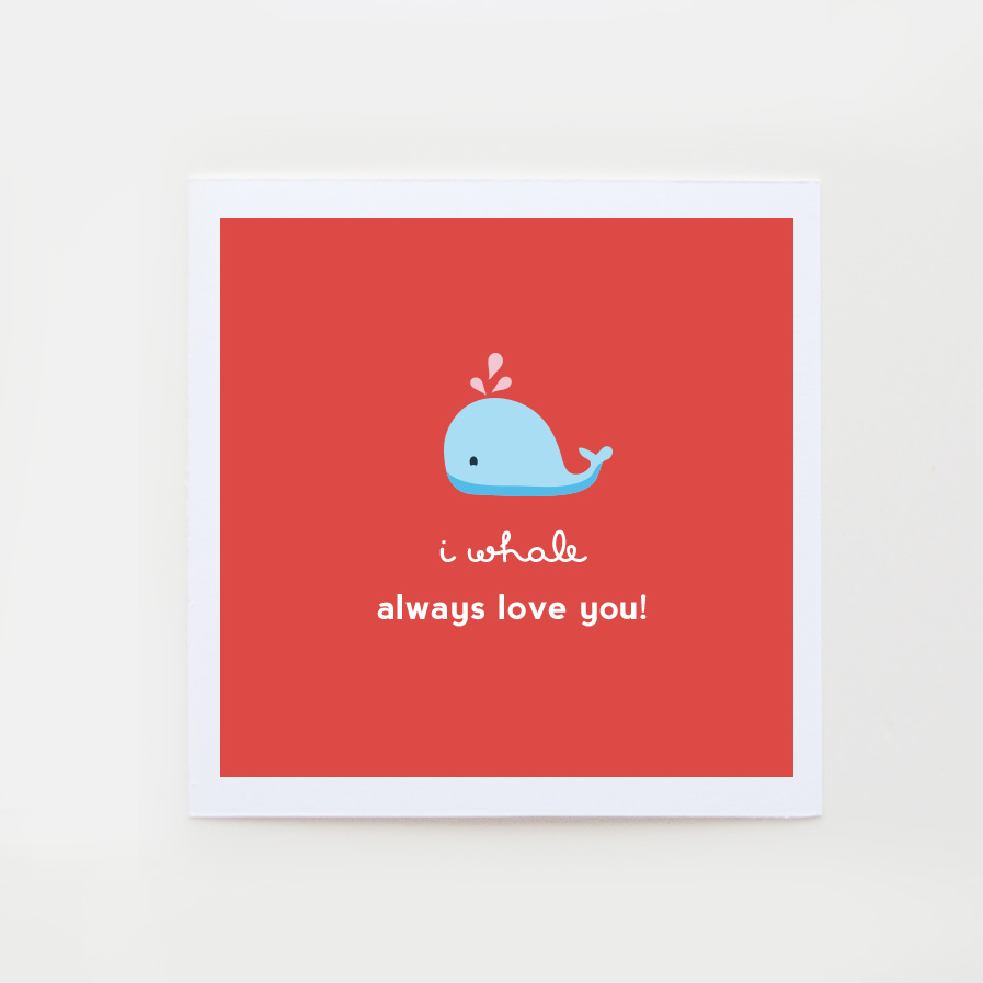 i whale always love you valentine card