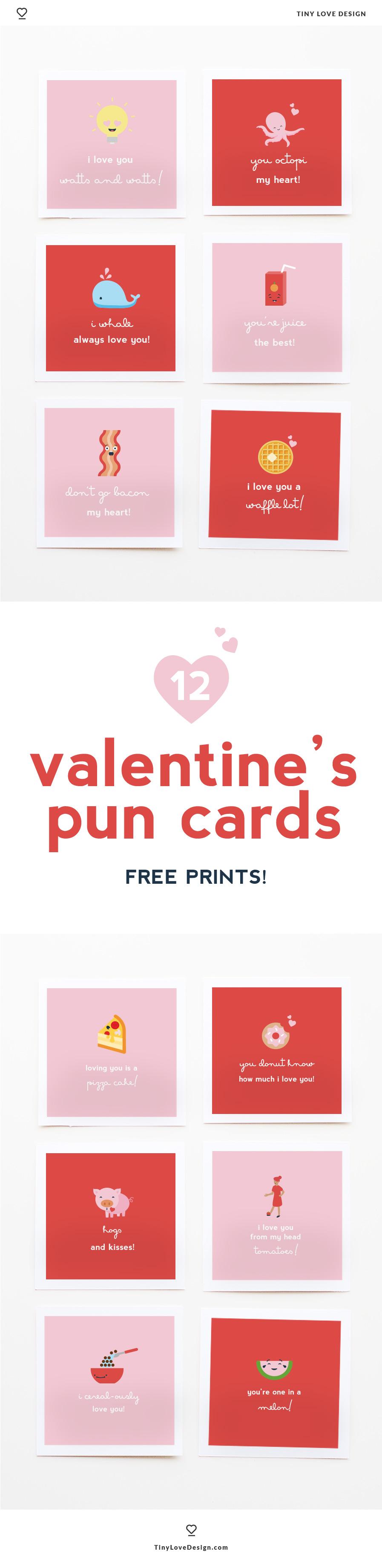 Free Printable Valentine's Pun Cards