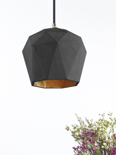 lampe origami béton