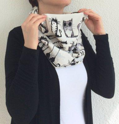 foulard motifs chats