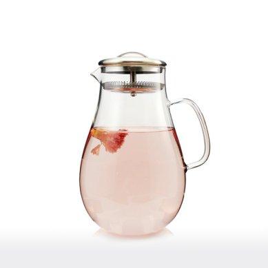 carafe en verre et filtre pour thé et café
