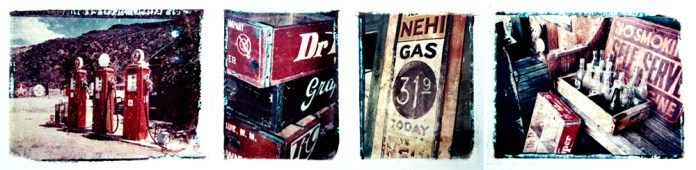 Route 66 Series - Polaroid Transfers on Watercolor Paper