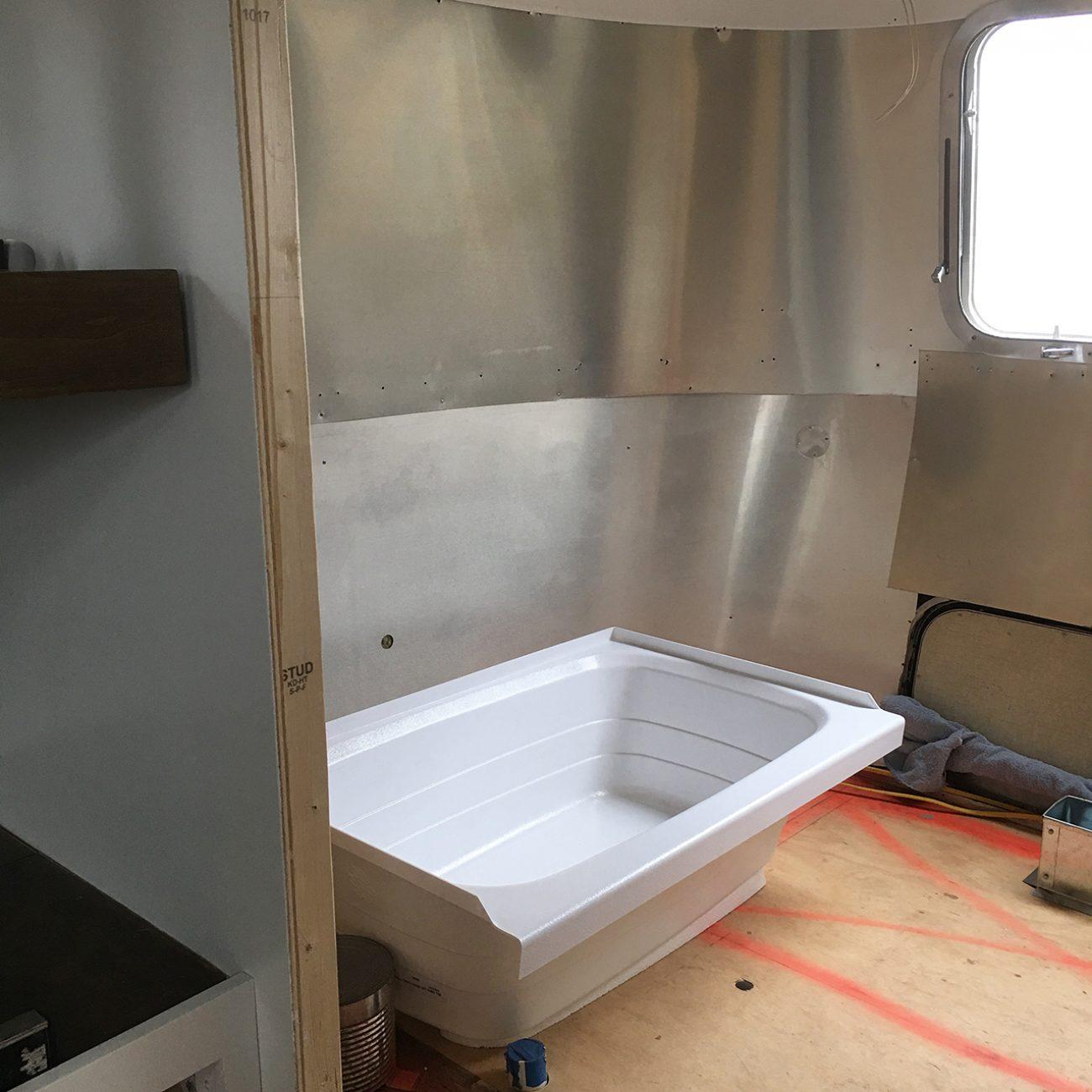 Airstream Renovation Bathroom Tiny Shiny Home