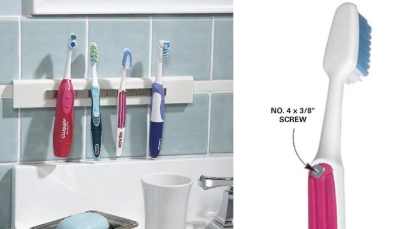 Magnetic Toothbrush Hanger