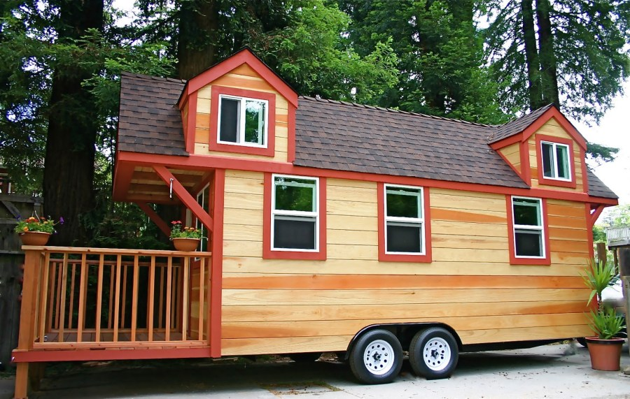 Largest Tiny House largest tiny house bedroom and living room image collections Tiny House On Wheel