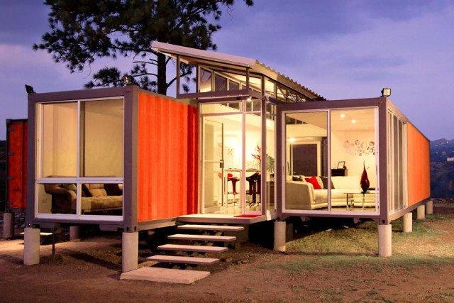 orange container home