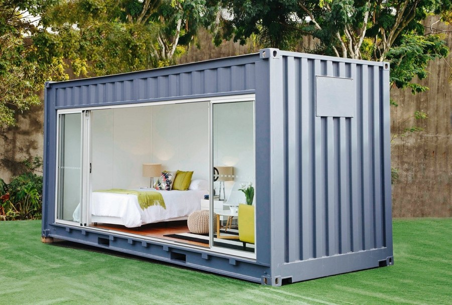 simple shipping container home