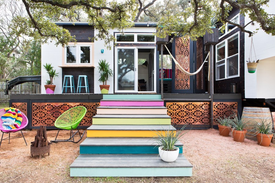Park model 400 sq ft tiny house designed by Kim Lewis
