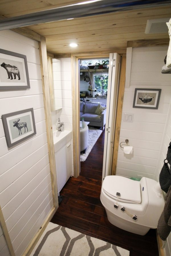Bathroom with standing