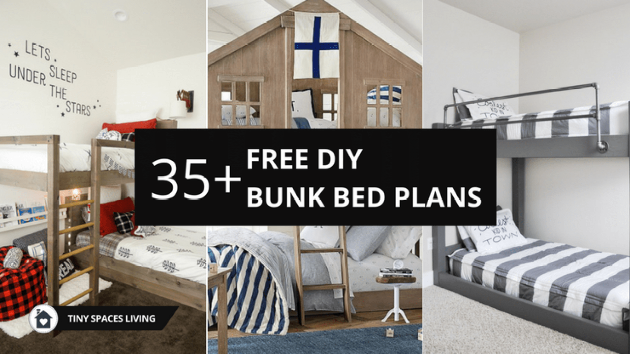 Top 35 Free Simple 2x4 Bunk Bed Plans With Dimensions In 2019