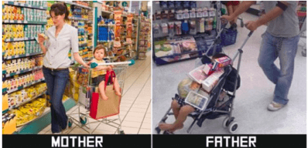Image of a Mom buying Groceries with her child