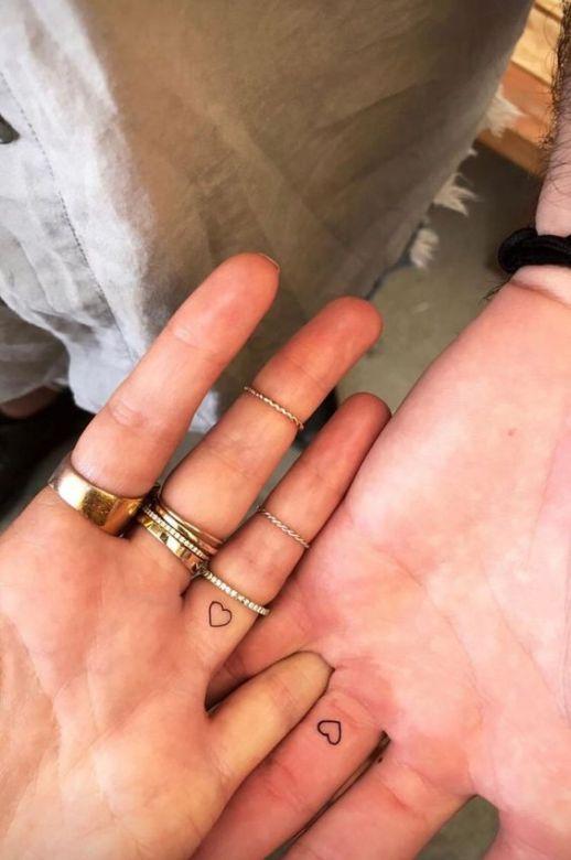 little heart wedding ring tattoos