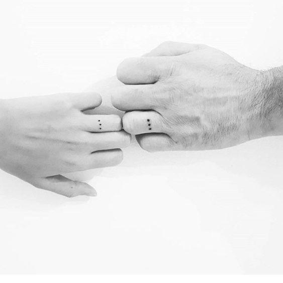 matching tattoos wedding ring dotted