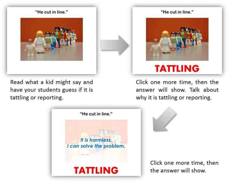 tattling and reporting powerpoint lesson