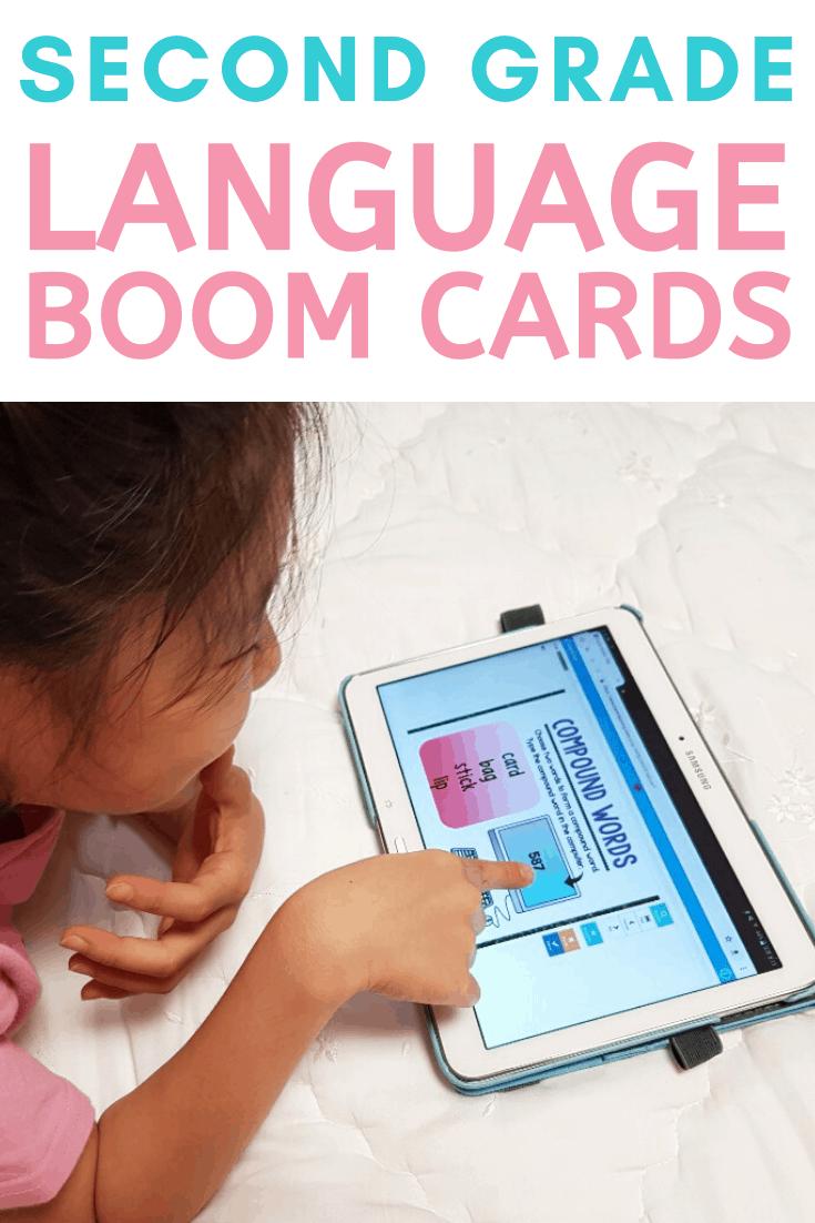 second grade common core language and grammar boom cards