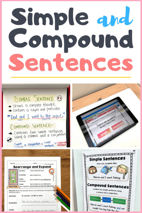 simple and compound sentence activities