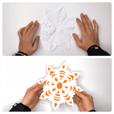 how to make a paper snowflake (2)