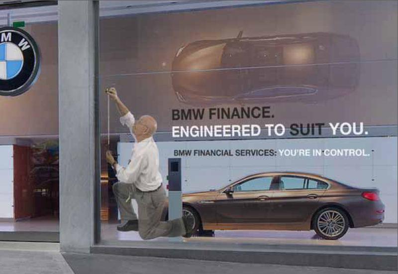 BMW Window Advert