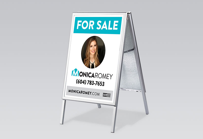 Monica Romey Sandwich Board