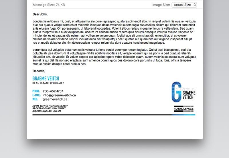 Graeme Veitch Email Signature