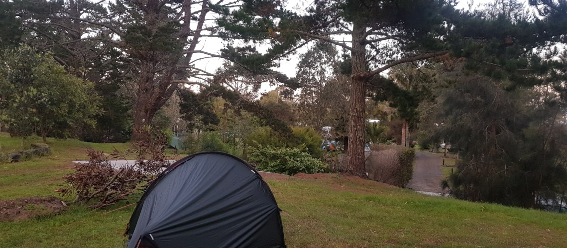 Camping at Ahipara YHA