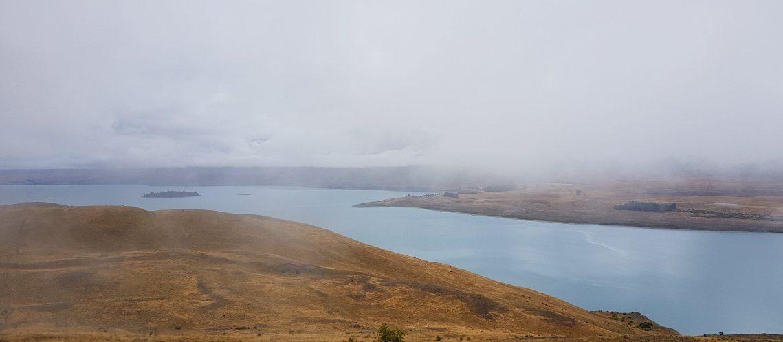 Te Araroa Trail Day 90 Foggy Tekapo day