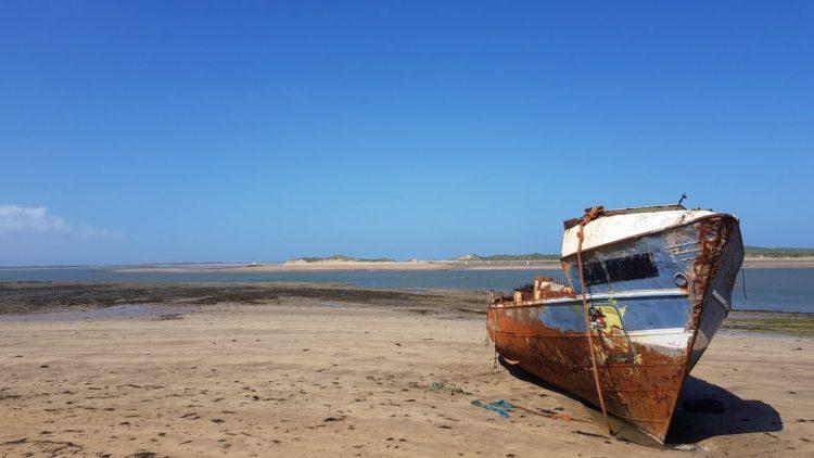 Part-ship abandoned on the estuary