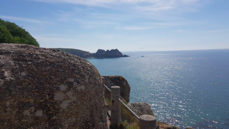 Amazing outlook from the Minack theatre
